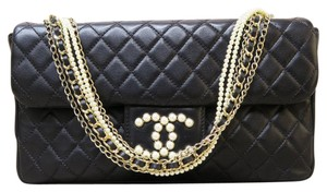 Chanel Medium Westminster Lambskin Satchel in black