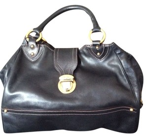 Marc Jacobs Satchel in Black Calf Leather
