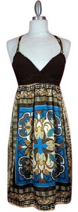 Scottevest short dress Brown Multi colored on Tradesy
