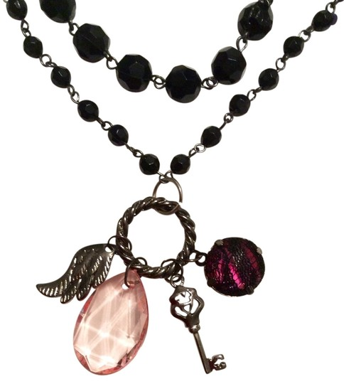 Preload https://item3.tradesy.com/images/other-black-bead-double-layer-chain-charms-trinket-necklace-pendant-2059652-0-0.jpg?width=440&height=440