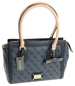 Guess Satchel in Coal / Black