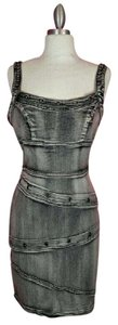 Boom Boom Jeans Bodycon Disstressed Dress