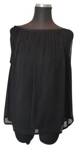 Halston Heritage Silk Sleeveless Top Black