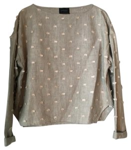 Rachel Comey Embroidered With Tags Opening Ceremony Fabric Top Natural