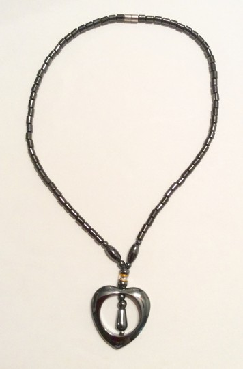 Other Heart Shape Hematite Bead Magnetic Necklace Pendant
