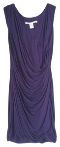 Diane von Furstenberg short dress Plum Drape Flattering Tight Fitted on Tradesy