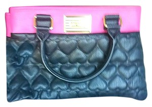Betsey Johnson Tote in Black & Pink