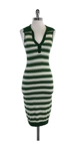 L.A.M.B. short dress Green White Sleeveless Collared on Tradesy
