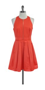 Karen Millen short dress Tangerine Sleeveless Pleated on Tradesy