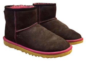 UGG Australia Black with pink and yellow details. Boots