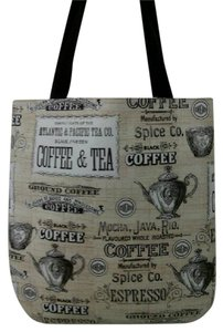 Other Handmade Coffee Espresso Tote in beige