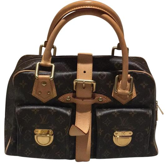 Preload https://item5.tradesy.com/images/louis-vuitton-manhattan-gm-brown-leather-satchel-20597114-0-1.jpg?width=440&height=440