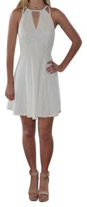 Free People short dress Ivory Lace Knit Graduation Sorority Rush Back Zipper Detail on Tradesy