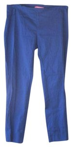 Anthropologie Crop Skinny Blue Slim Capri/Cropped Pants
