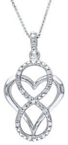 9.2.5 Unique white sapphire heart love knot necklace
