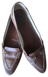 Tod's Leather Moccasin Pointed Toe Brown Flats