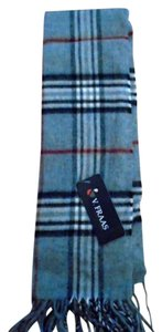 V. FRAAS NWT Women's Plaid Gray Scarf w/Fringes