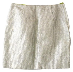 H&M Silver Green Lime Mini Mini Skirt