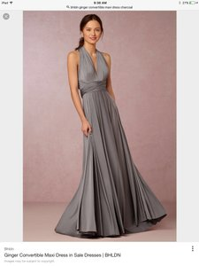 BHLDN Charcoal Ginger Convertible By Twobirds Bridesmaid/Mob Dress Size OS (one size)