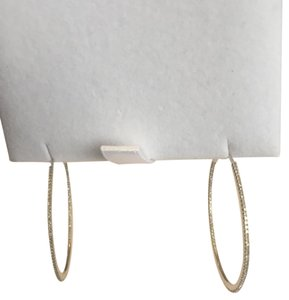 Other Medium Size Whit Gold and Paive Diamond Hoop Earings