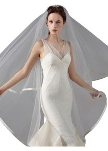 Peter Langner Peter Langner Dance Dete Cathedral Length Veil With Satin Trim