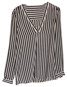 Joie Top navy and white stripe
