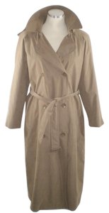 London Fog Vintage Hooded Trench Raincoat Trench Coat
