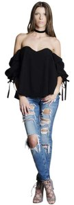 Do+Be Off Puff Sleeve Top Black