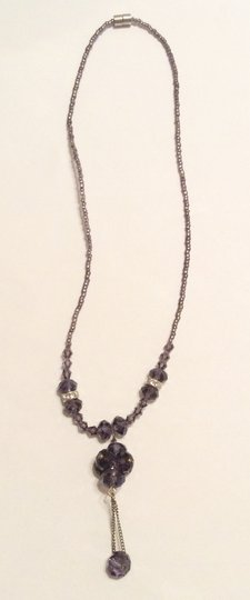 Other Lariat Y Shape Bead Purple Chain Necklace Pendant