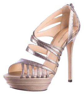 Alexandre Birman Metallic gold Platforms