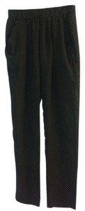 Gold Hawk Relaxed Pants Black & white