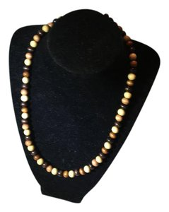 Anna's Art 3 Tone Wood Pearl Necklace
