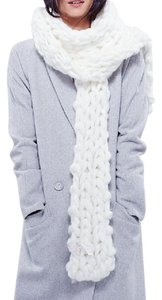 Free People FREE PEOPLE Long Crochet Scarf Ivory Chunky Wrap Knit XS S M L NEW