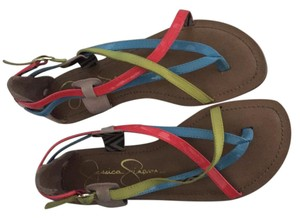 Jessica Simpson Red blue yellow Sandals