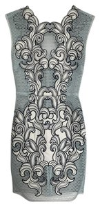 Topshop Motif Applique Mesh Cocktail Dress