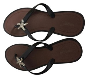 Capelli New York #beach #sandals #starfish Black with starfish accent Sandals