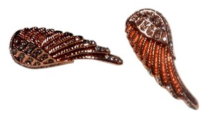 Other New Rose Gold Angel Wing Stud Earrings Large 1.5 in. J3095