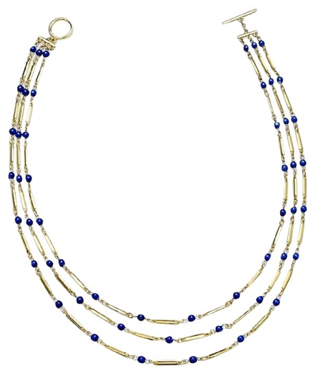 Ralph Lauren LAST SET ! Gold-Tone Bead Tube Necklace & Bracelet