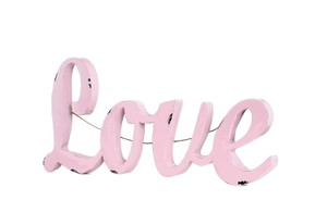 Make Market Love Metal Sign 3d Pink Dusty Rose Shabby Chic