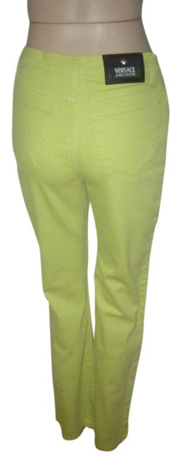 Item - Lime Coated Couture High Waist 45 Straight Leg Jeans Size 33 (10, M)