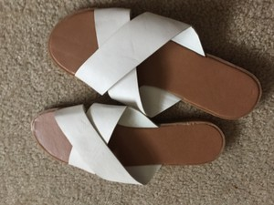 Cracker Barrel # #white #beach #slip On #summer White Sandals