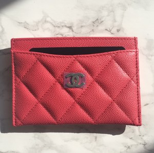 Chanel Cardholder Classic Quilted Caviar Pink