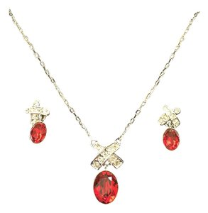 Swarovski Swarovski Necklace and Earring Set