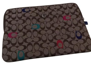 Coach F63065 Signature Laptop Sleeve