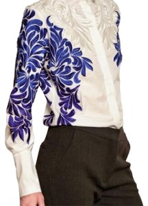 Stella McCartney Button Down Shirt White, Blue, Grey