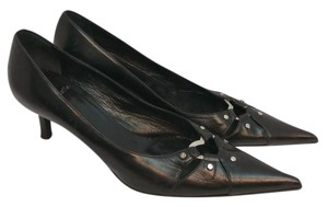 Campanile Black Leather Pumps