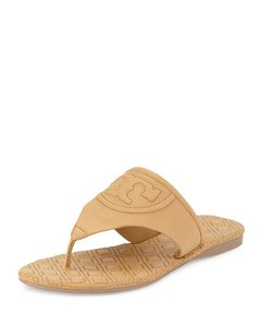 Tory Burch Flemming Quilted Miller Flip Flop Beige Sandals