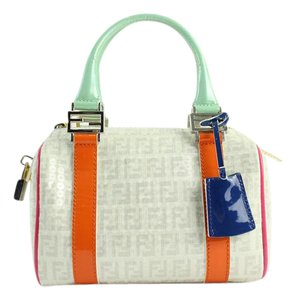 Fendi Speedy Doctor's Boston Glitter Satchel in Multicolor Zucca