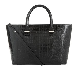 Victoria Beckham Quincy Quincy Embossed Croc Tote in Black NWT V Beckham