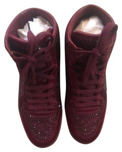 Gucci Studded Satin Sneaker MAROON Athletic